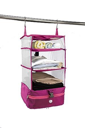 a04069ab73 持ち運べるクローゼット スリム ピンク Fu-90073 <スーツケース 収納バッグ トラベルバッグ 旅行 ガーメント