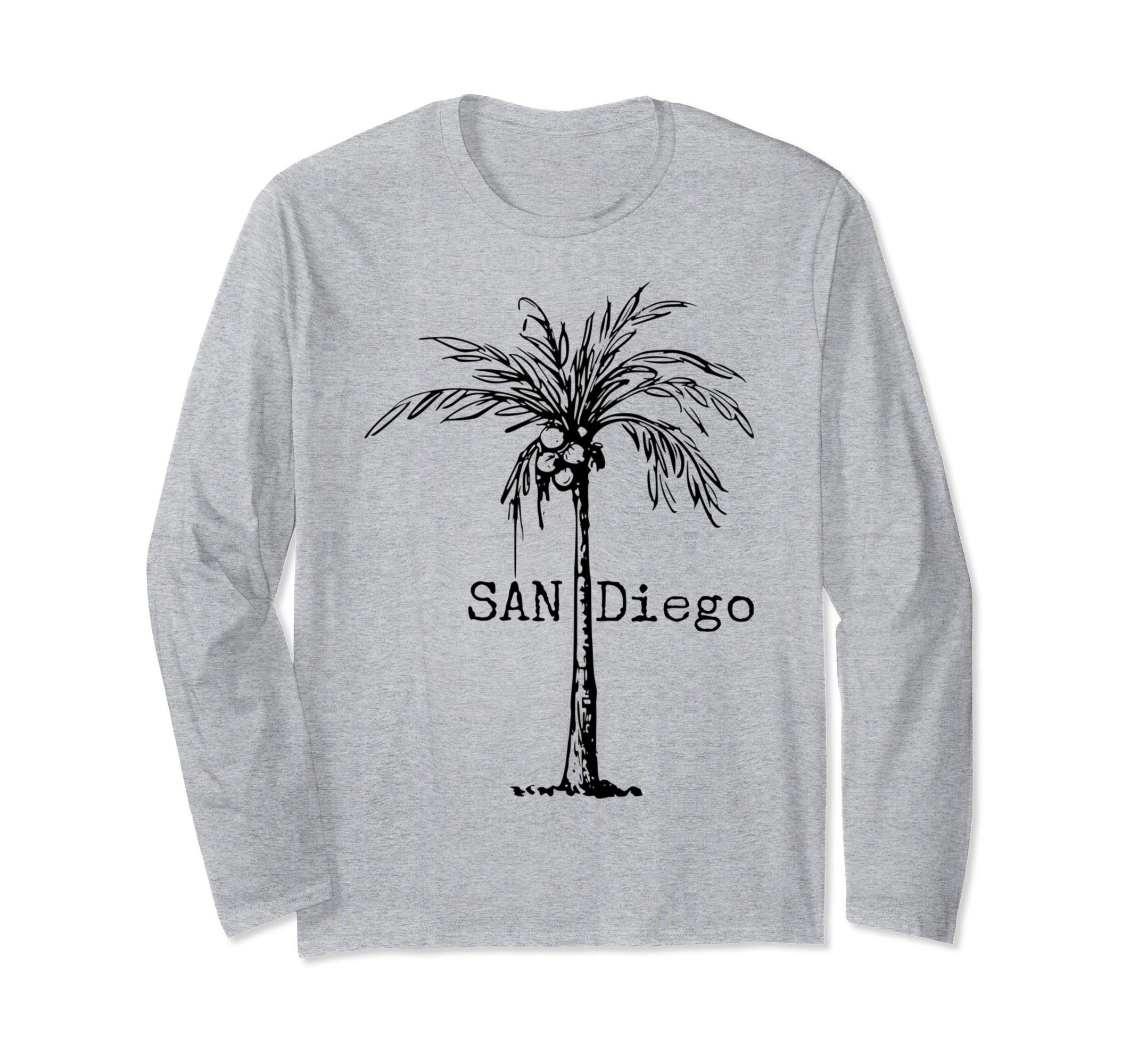 San Diego - Palm Tree San Diego  Long Sleeve T-Shirt by TEAM ALOHA DESIGN CO