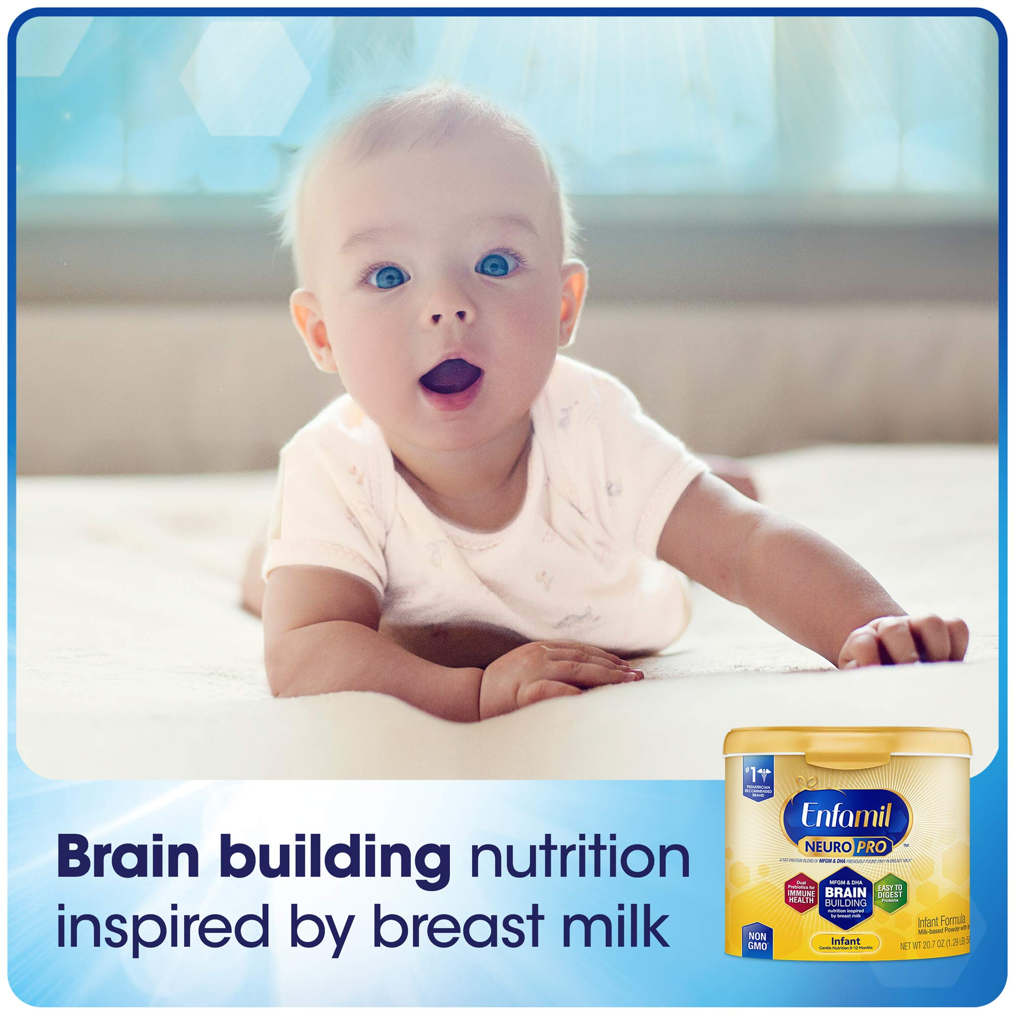 Enfamil NeuroPro Baby Formula Milk Powder, 20.7 Ounce (Pack of 6), Omega 3, Probiotics, Brain Support and Infant Formula - Ready to Use Liquid, 8 fl oz (24 count) Packaging May Vary by Enfamil (Image #2)