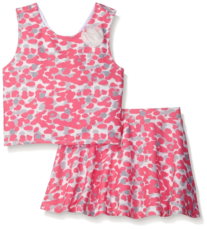 Nicole Miller Girls' Printed Textured Skirt Set Nicole Miller Children' s Apparel MIM6462