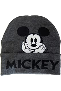 Mickey Mouse Disney Cuffed Knit Beanie Toque Grey Hat Winter ... 98b1378e7499