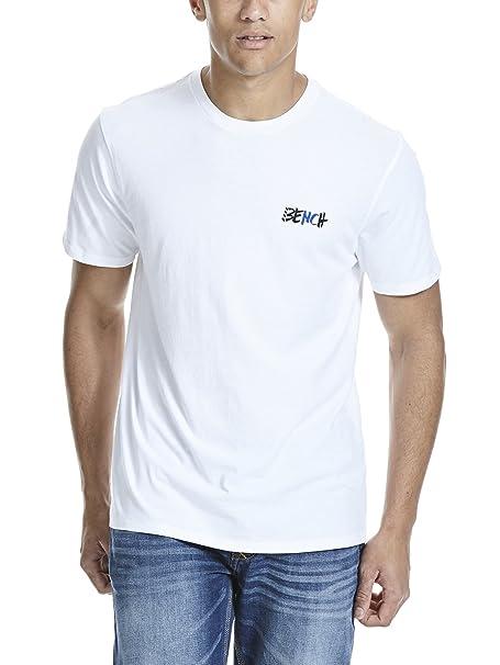 Bench Herren T-Shirt Corp Tee Shirt, Weiß (White WH001), Small