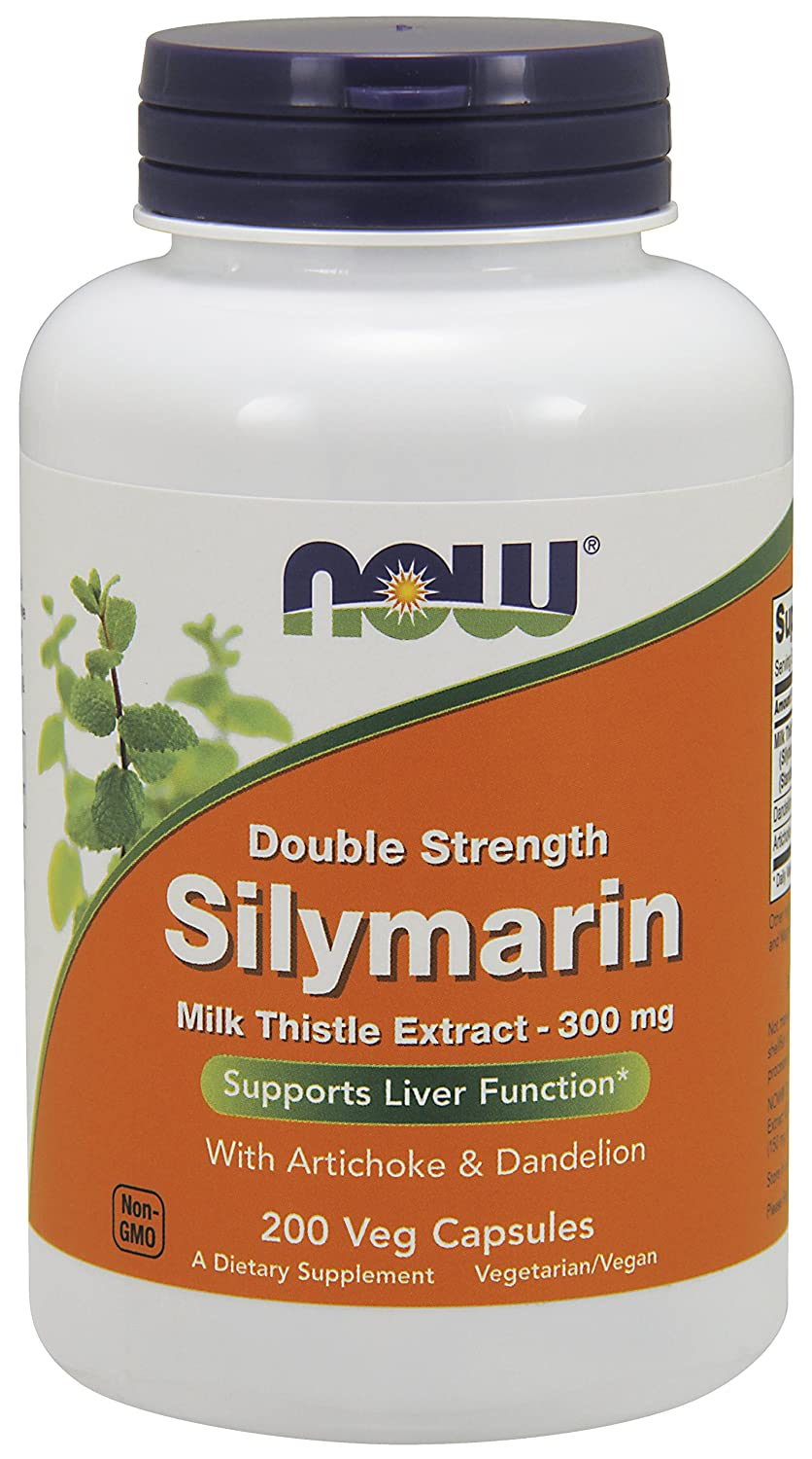 NOW® Silymarin, 300 mg, 200 Veg Caps