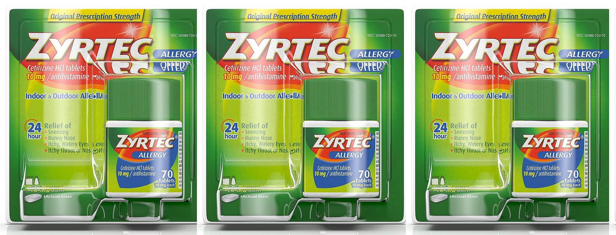 Zyrtec Tablets, 10 Mg itRBUO, 3Pack (70 Count) by Zyrtec