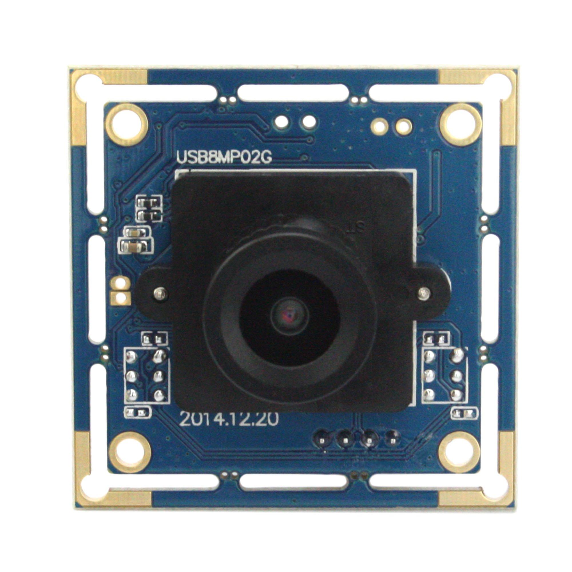 ELP 8 Megapixel HD Webcam Camera Module adopt Sony IMX179 sensor with 2.1mm wide angle lens