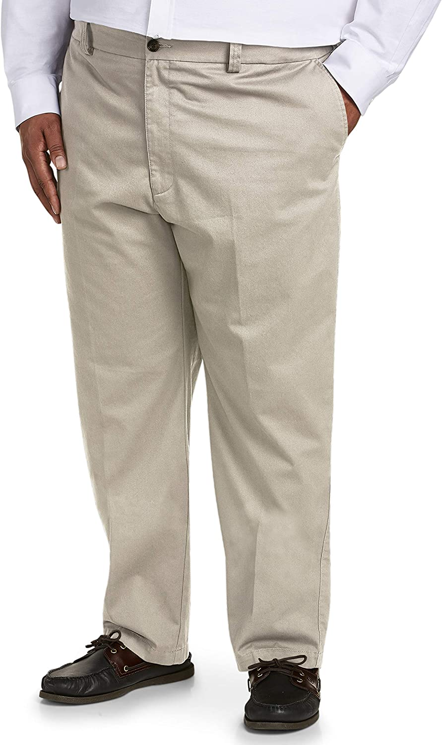 Amazon Essentials Men's Big & Tall Relaxed-fit Wrinkle-Resistant Flat-Front Chino Pant