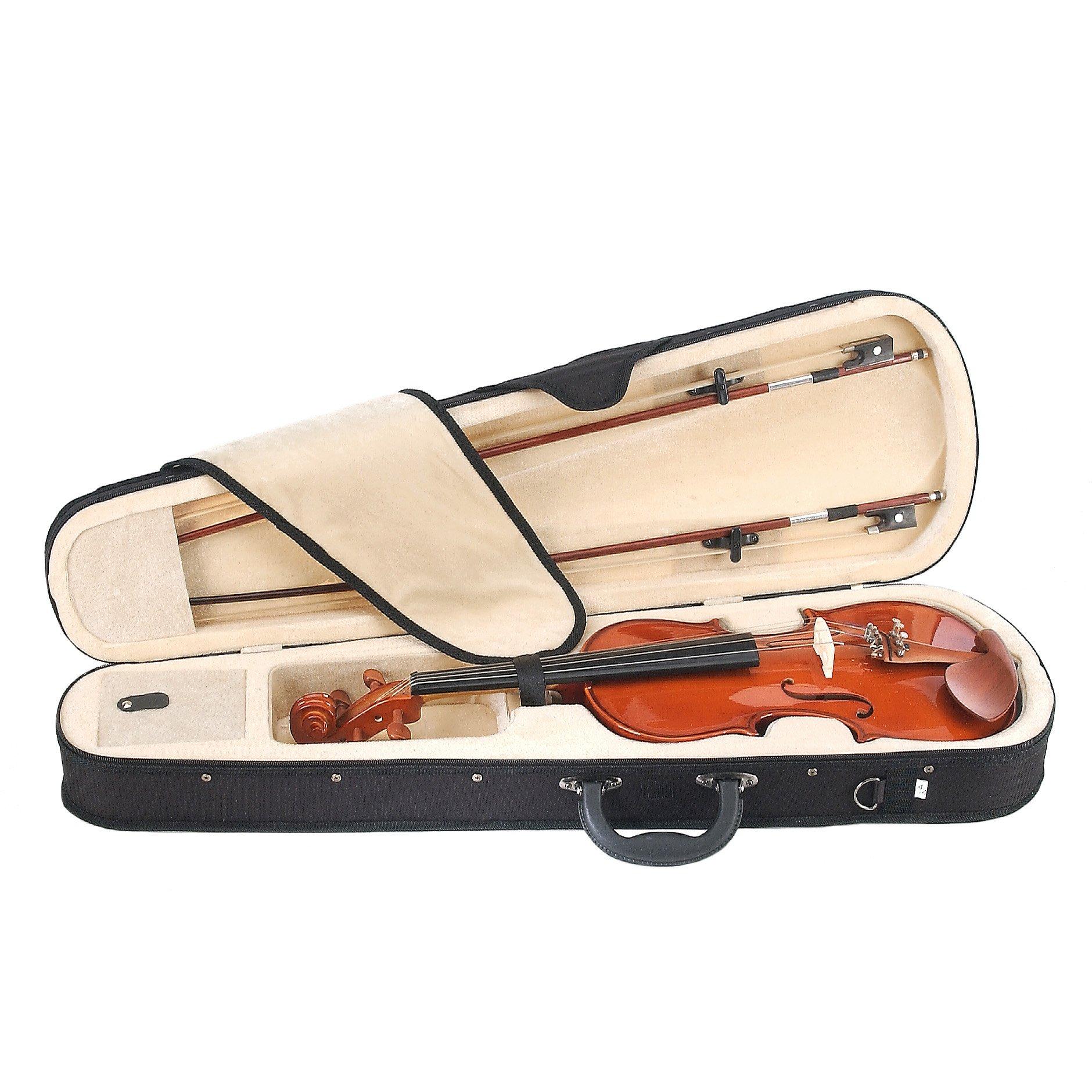 Cecilio CVN-200 Solidwood Violin with D'Addario Prelude Strings, Size 4/4 (Full Size) by Cecilio (Image #3)