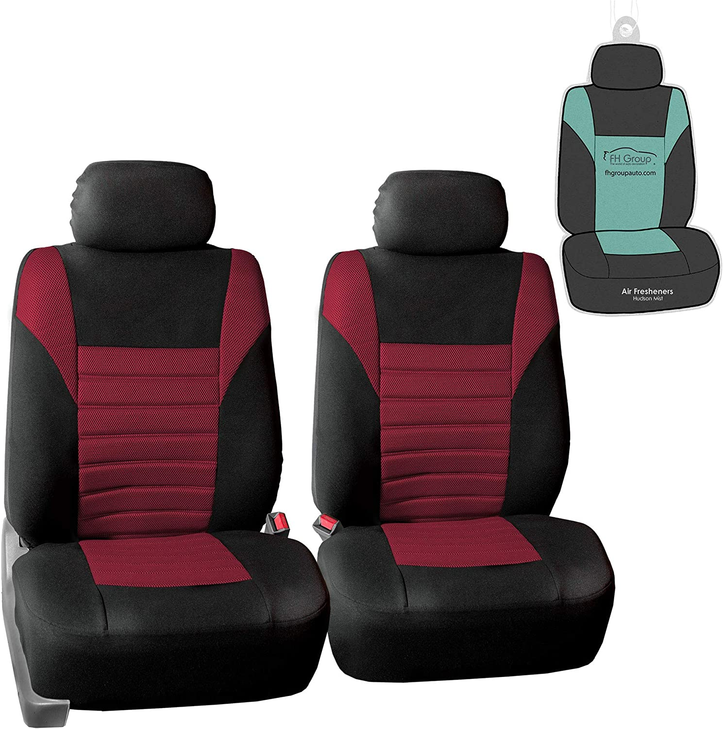 or Van Gift SUV FH Group FB068013 Premium 3D Air Mesh Split Bench Seat Cover w Truck Solid Black Color- Fit Most Car