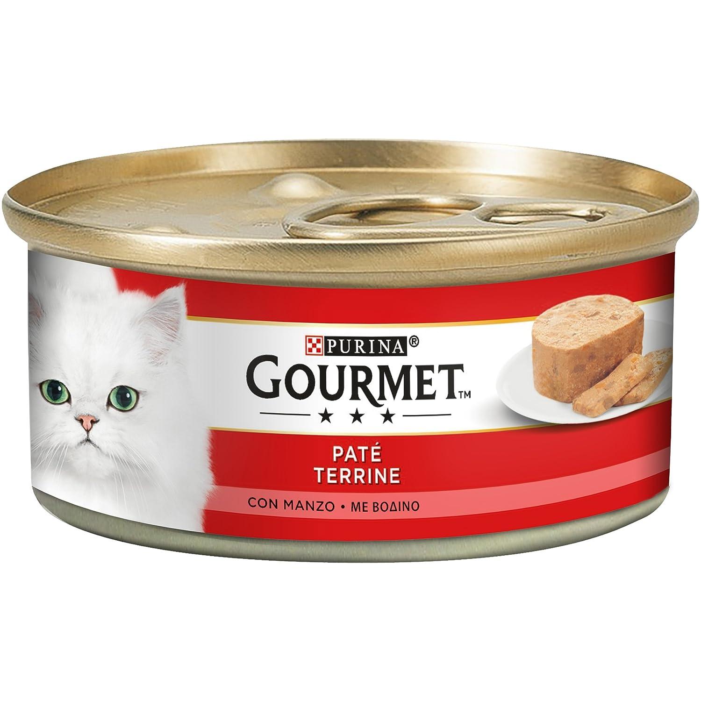 Gourmet Rojo fuagrás para el Gato, con Pezzetti de Manzo, 195 g ...