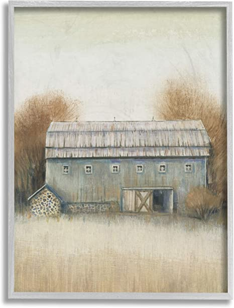 Stupell Industries Autumn Barn Doors Vintage Farm Landscape Design By Tim O Toole Grey Framed Wall Art 11 X 14 Brown Posters Prints