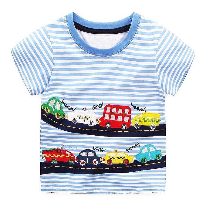 60219bf1639 Amazon.com  Boys Tops Summer 2018 Brand Children t-Shirts Kids ...