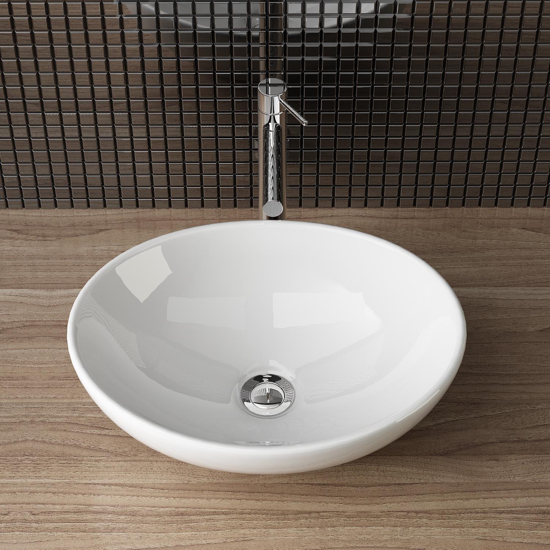 Aufsatzwaschbecken gäste wc oval  DESIGN KERAMIK AUFSATZWASCHBECKEN WASCHSCHALE HANDWASCHBECKEN ...