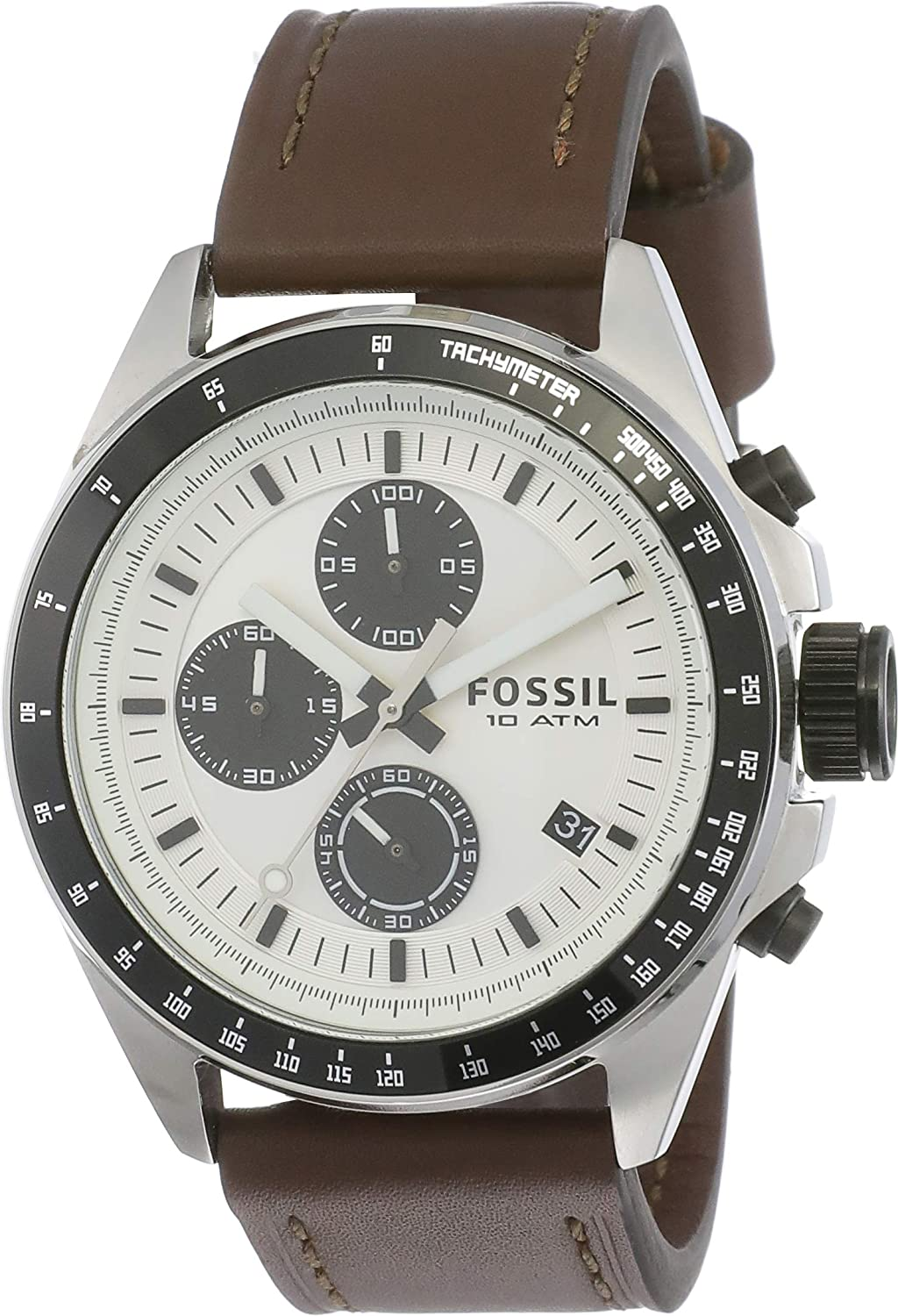 Fossil Chronograph White Dial Best Mens Watches Under 5000 in India to buy in 2019 - Reviews & Buyers Guide