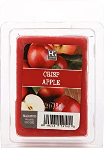 Hosley Crisp Apple Wax Cubes- 2.5 oz each. Hand poured Wax Infused with Essential Oils. Ideal for Weddings, Spa, Reiki, Meditation Settings W1.