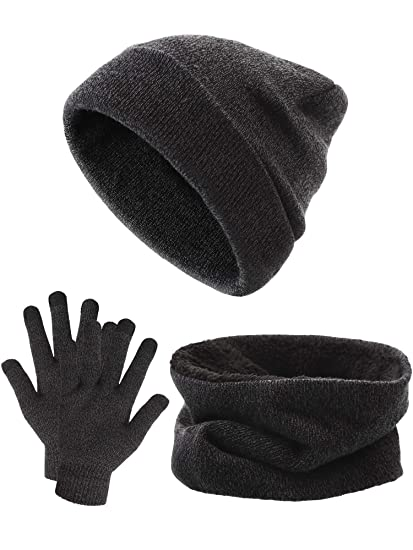 Tatuo Winter Warm Sets Includes Hat Scarf Touch Screen Gloves 46358ae55519