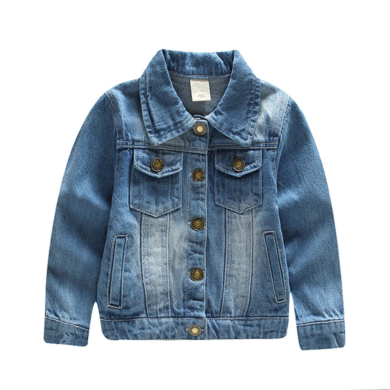Samuel Roussel Chilren Denim Outerwear New Autumn /& Spring Jeans Jacket Boys Girls Cotton Coats 2-8 Years