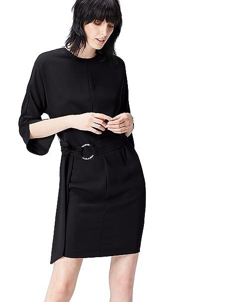 FIND FP00947.2.1 vestido fiesta mujer, Negro (Black), 36 (Talla