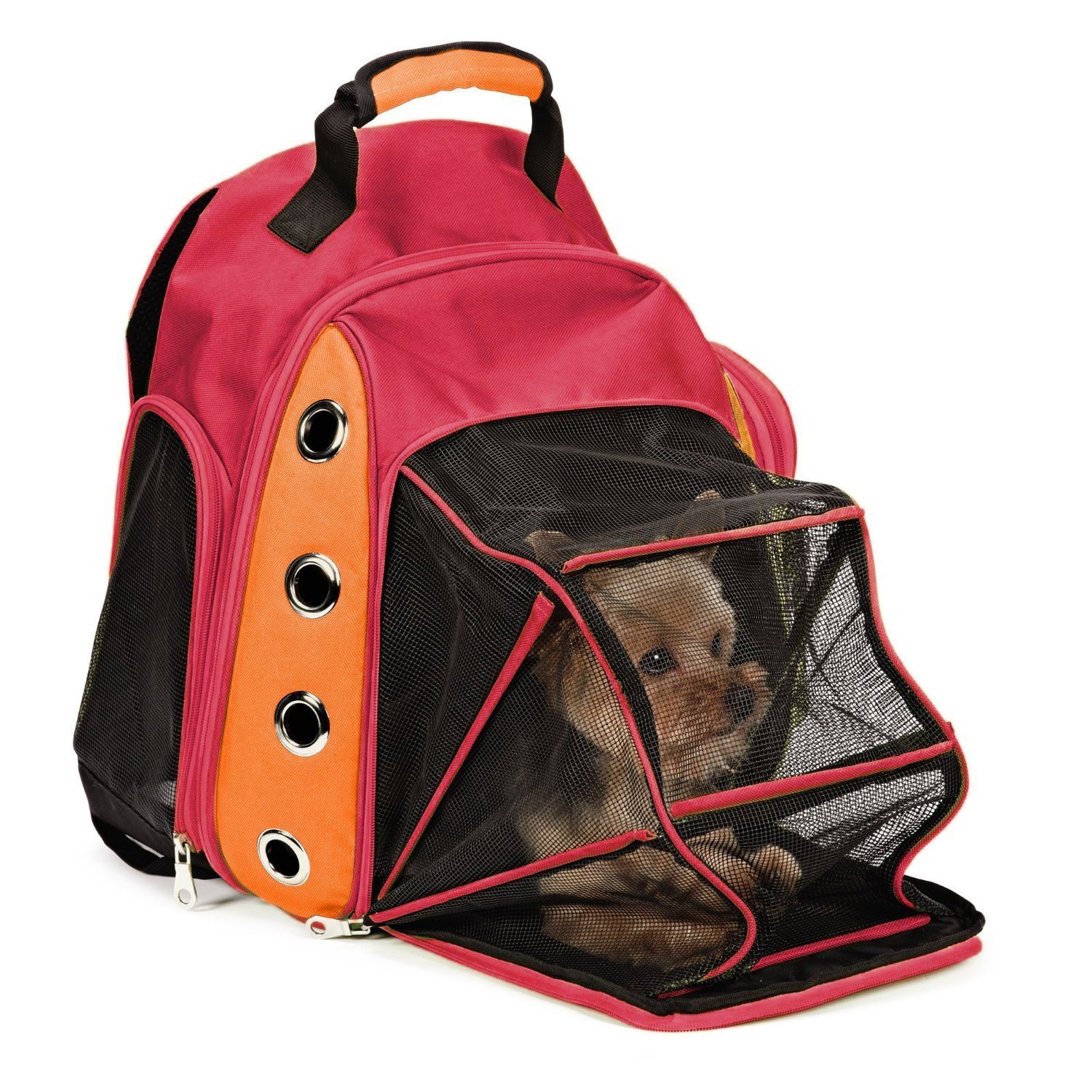 Multiple Deluxe Dog Carrier Mesh Travel Backpack Double Shoulders Straps Bag for Small Pet Puppy Cat (Certified Refurbished) HAOBO