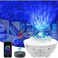 Star Projector, Yamla Smart Galaxy Light Projector Work With Alexa Google Assistant, Ocean Wave Night Light Projector…