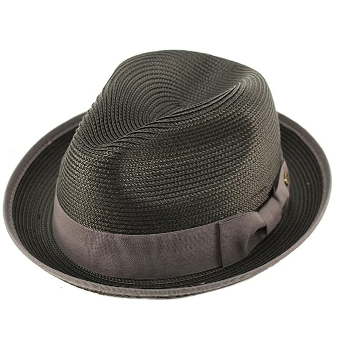 3151ef006ac Epoch Men s Classy Travel Crushable 2tone Derby Fedora Upturn Curl Brim Hat  ...