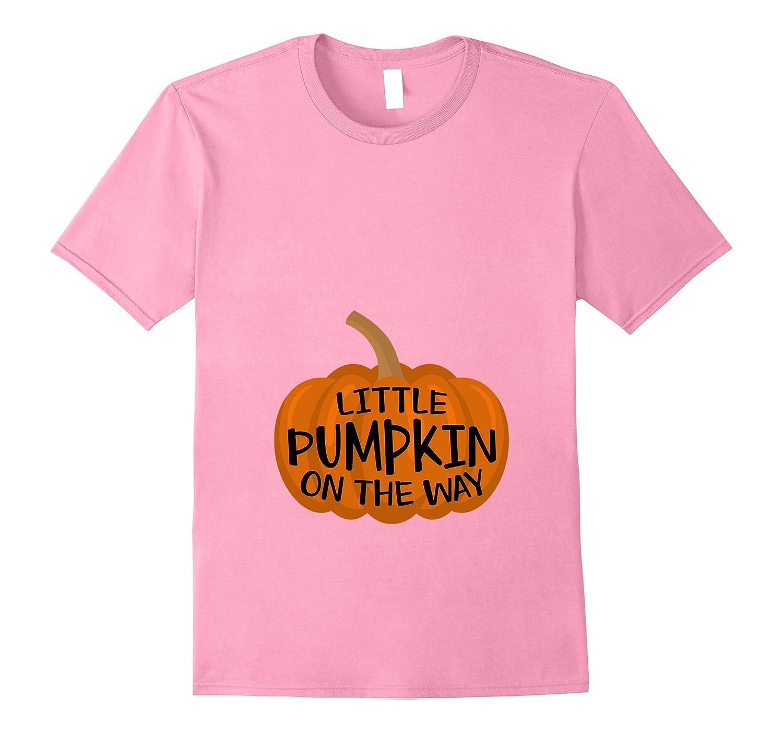 Little Pumpkin On The Way Halloween Pregnancy T-Shirt