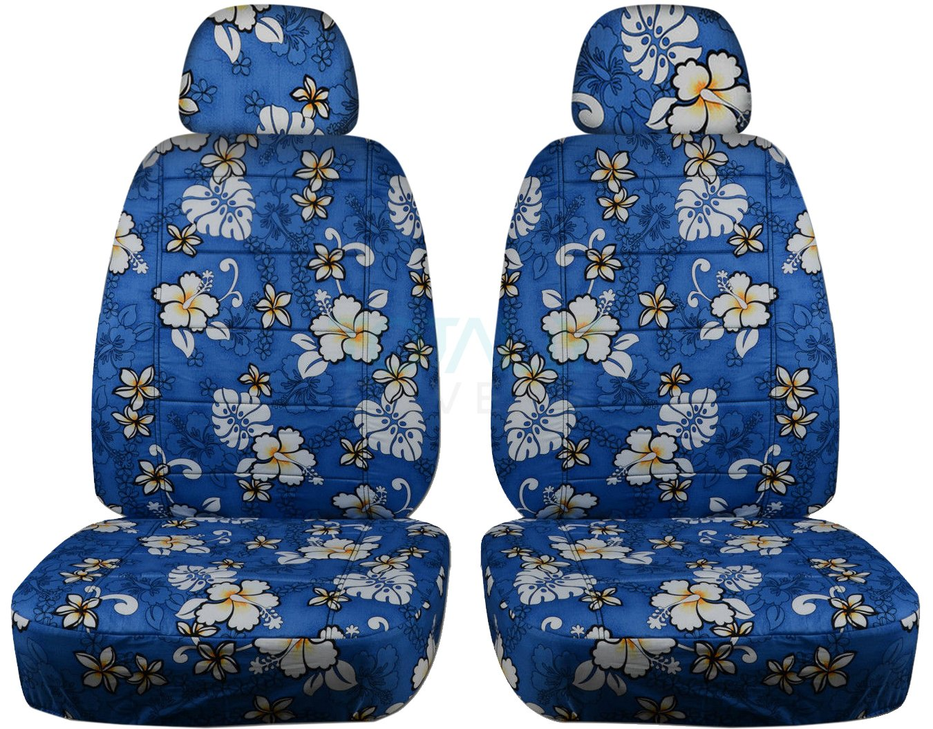 Best rated in custom fit seat covers helpful customer reviews hawaiian print car seat covers w 2 separate headrest covers blue w flowers semi custom fit front will make fit any cartruckvansuv 4 prints izmirmasajfo