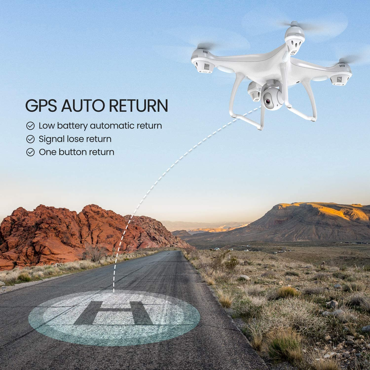 Potensic T35 GPS Drone is at #10 for best drones under 300 dollars