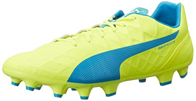ba89acecd504e0 PUMA Men s EVOSPEED4.4FG-M Safety Yellow Atomic 7 ...