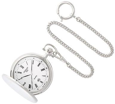 075c35b12 Amazon.com: Tissot Unisex Savonnette - T83655313 White One Size: Watches