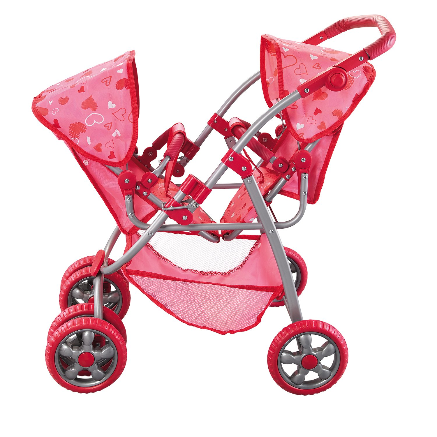 Deluxe Doll Twin Stroller Set - Mega Twin Doll Stroller for Twin Dolls - Fits 18 inch Dolls - Great Holiday Gift