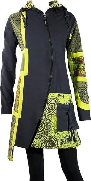 Bunter Damen Mantel mit ausgefallenen Ethno Muster Hippie
