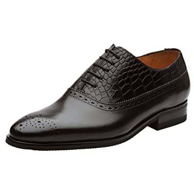 DAPPER SHOES CO. Handcrafted Genuine Leather Men's Brogue Oxford Leather Lined Shoes | Oxfords