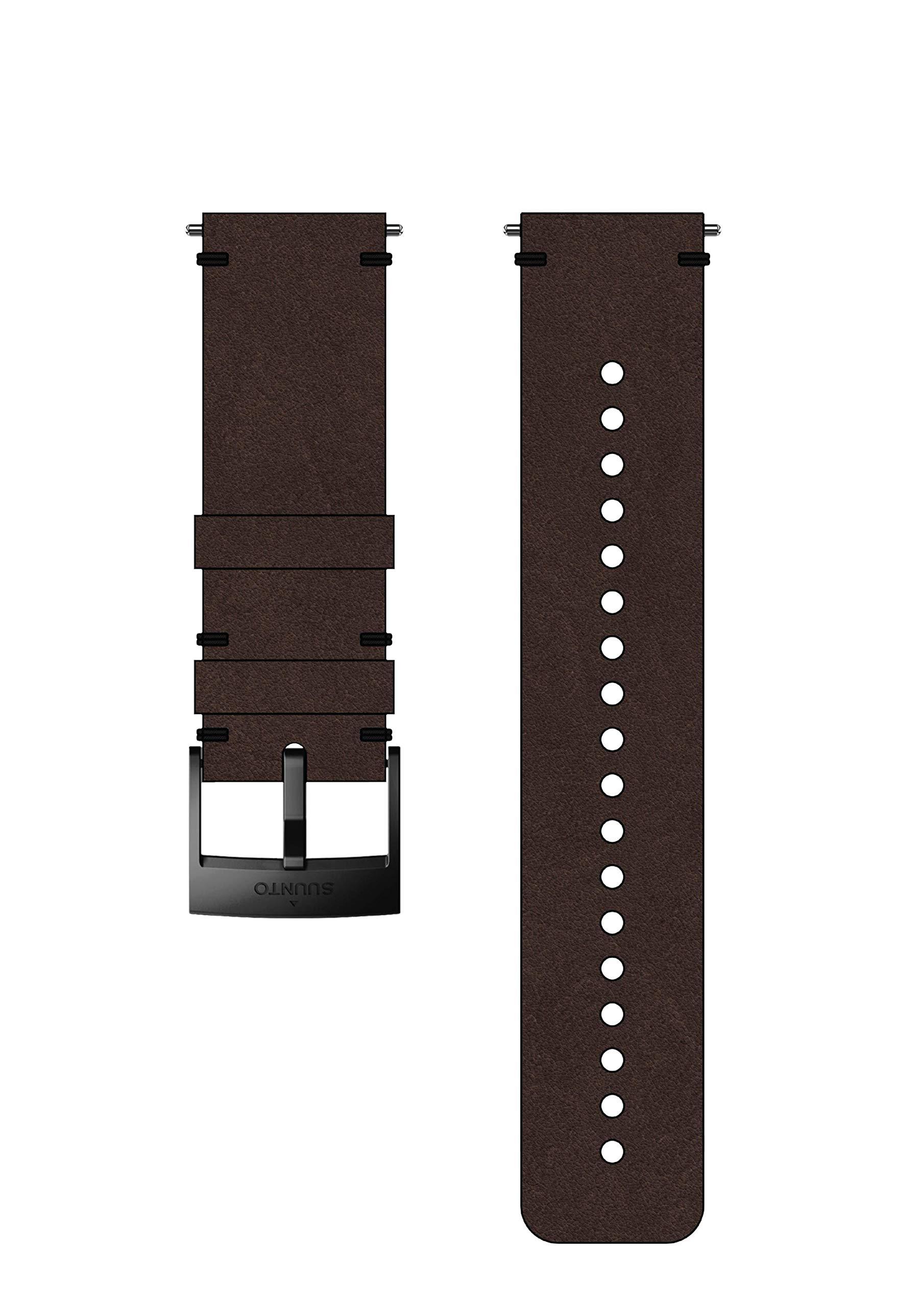 Suunto Watch Strap, 24mm, Leather, Brown Black- Urban, M: 130-230 mm