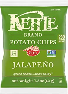 product image for Kettle Brand Potato Chips, Jalapeno, Single-Serve 1.5 Ounce (Pack of 24)