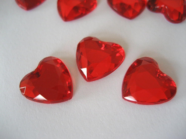 100 cristalli decorativi a forma di cuore 12 mm gemme decorative da tavolo per matrimonio retro placcato in argento Blue