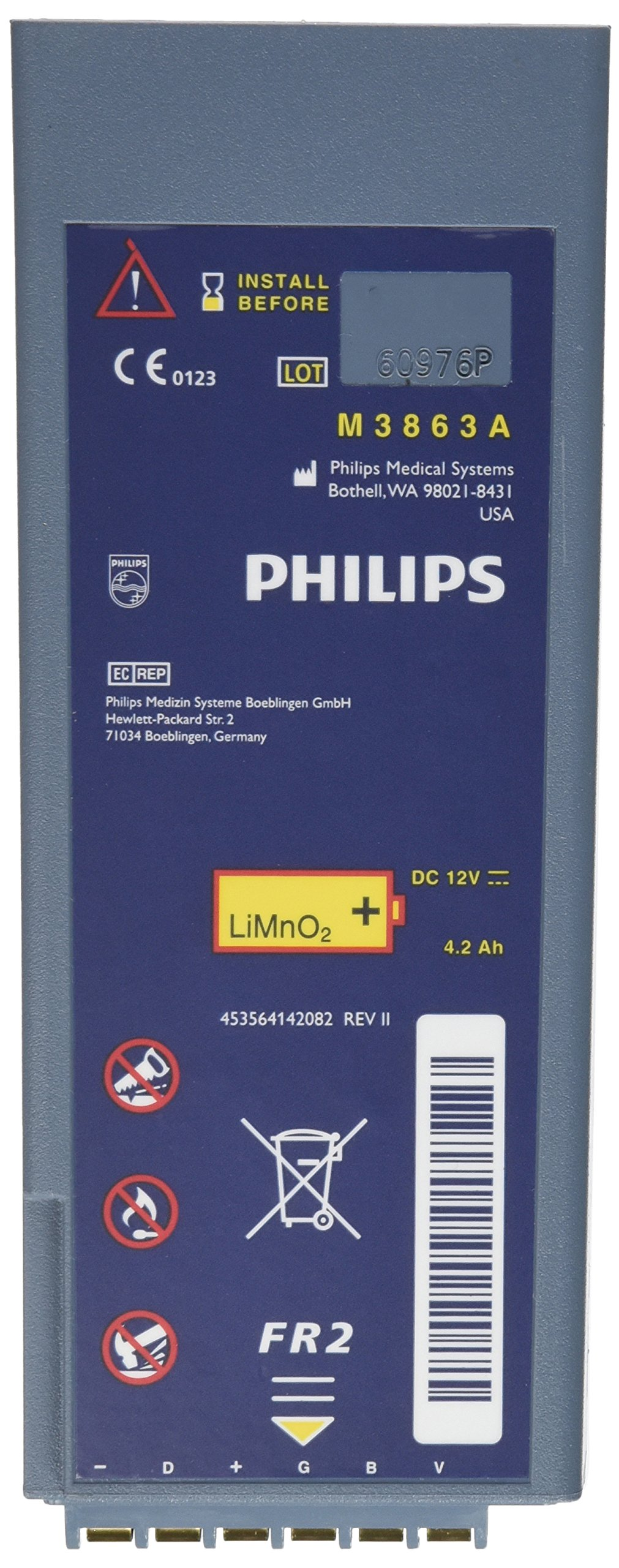 Phillips FR2/FR2+ Lithium Ion Battery