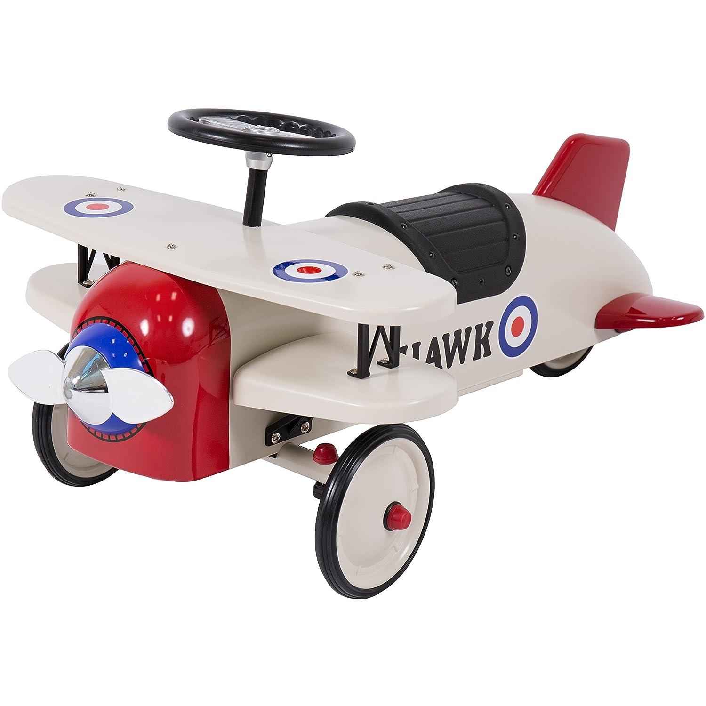 Amazon Best Choice Products Ride Bi Plane Metal Pedal Car
