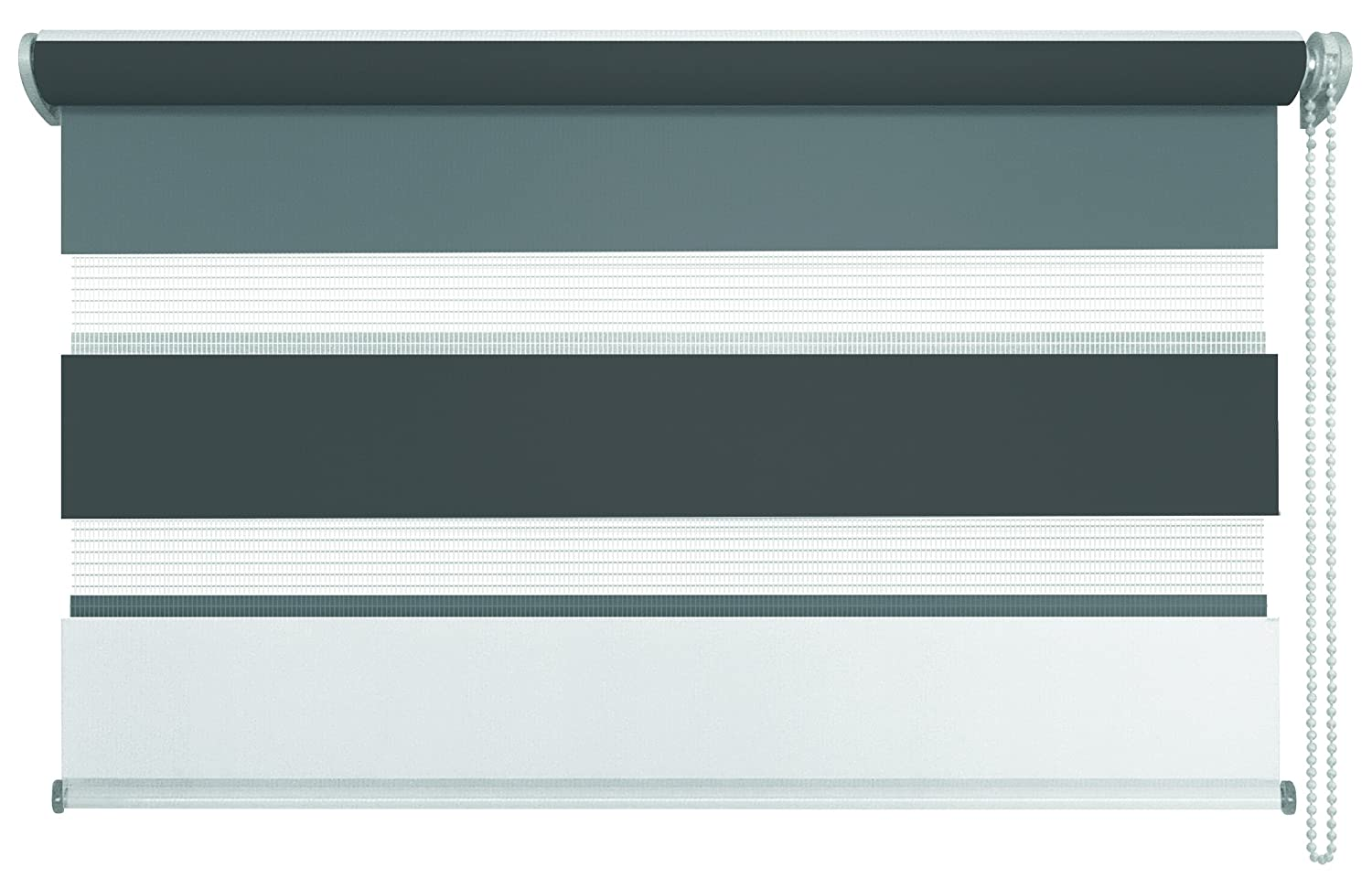 Mydeco Klemmfix Double Blinds Just Triple Grey Anthracite 140 X 160 Cm Amazoncouk Kitchen Home