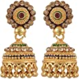 Jewelstone Gold Plated Handmade Jhumka Jhumki Earrings Gift For Her, Girl, Women, Mother, Sister, Girlfriend, Party, Daily Wear