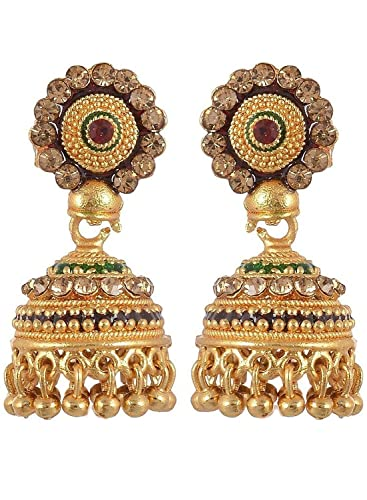 63d6e9079 Buy Jewelstone Gold Plated Handmade Jhumka/Jhumki Earrings Gift for Girl or  Women Party Online at Low Prices in India | Amazon Jewellery Store -  Amazon.in
