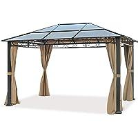 TOOLPORT Cenador de jardín 3x4 m Impermeable ALU Deluxe con 4 Partes Laterales Carpa Party en Techo de Bronce…