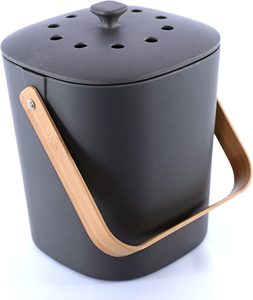 Bamboozle Food Composter, Indoor Food Compost Bin for Kitchen (Graphite)