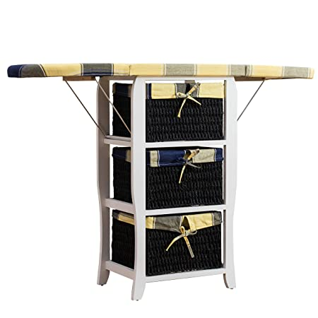 ironing board furniture. CherryTree Furniture Wood Wicker Folding Ironing Board Centre With Storage  Baskets Chest Of Drawers Ironing Board Furniture G