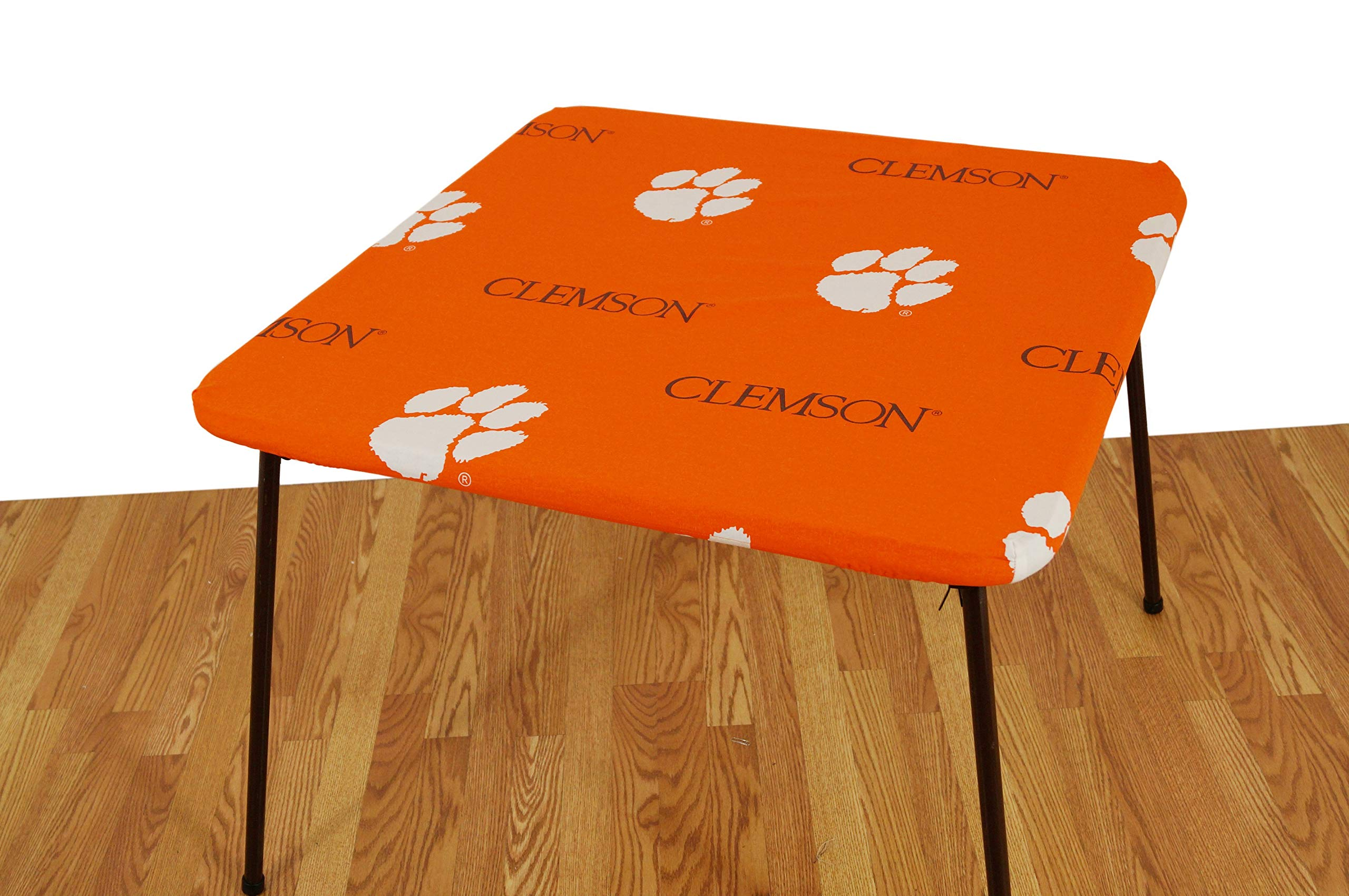 College Covers Clemson Tigers Card Table Cover, 33 by 33''