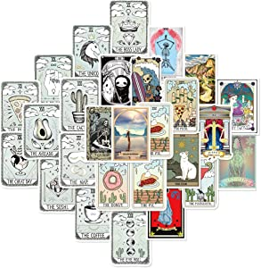 Gumindaris Tarot Series Stickers (50 PCS) Cute Stickers for Laptop, Hydro Flask,Water Bottle,Skateboard Phone - Aesthetic Stickers - Stickers for Teens, Adults, Kids - Sticker Pack - Vinly Waterproof