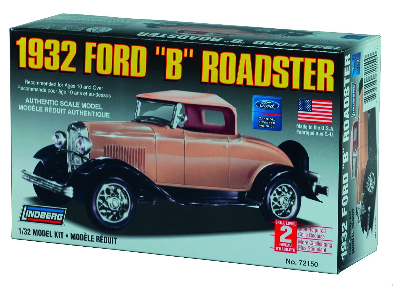 "Amazon.com: Lindberg 1932 Ford ""B"" Roadster 1/32 Scale Plastic Model Car  Kit: Toys & Games"