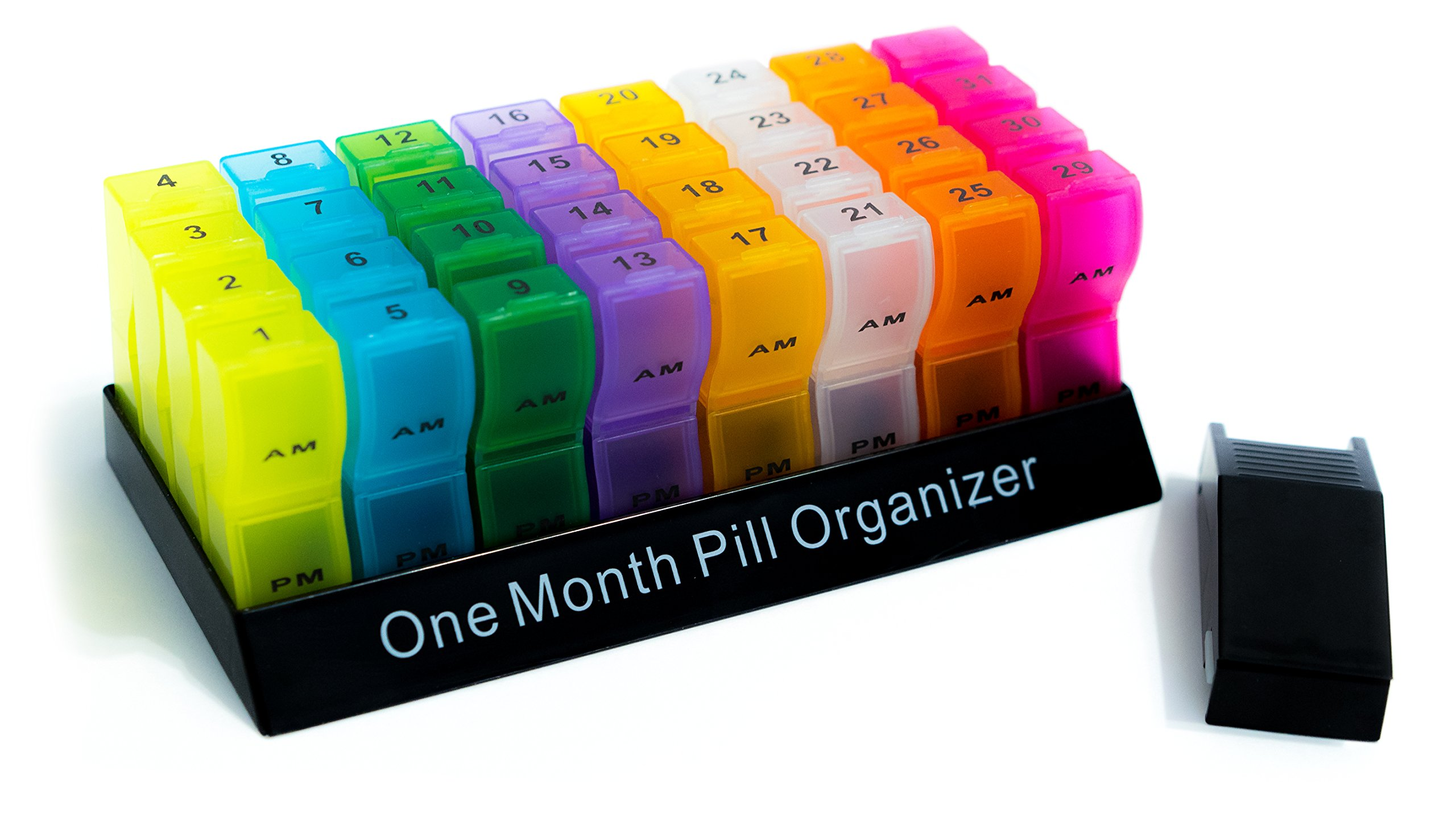 Product Choices Pill Organizer | Pill Box | Pill Case | Premium Quality & Variant Color | Free Pill Cutter | 31 Days AM/PM | Easy Snap-On and Close Lid | BPA Free | Recyclable | Large Compartments