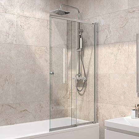 Luxury Sliding Bath Shower Glass Extending Screen Reversible Door