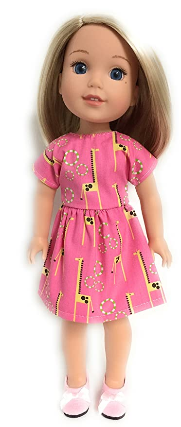 Giraffe Shorts Outfit For American Girl Dolls 18 Inch Doll Clothes