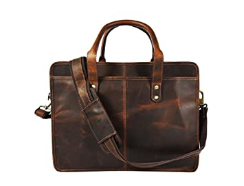 Review Hunter Leather Briefcase Messenger